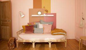 chambre de petite fille vintage et exotique