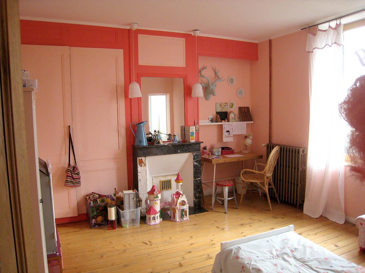 Chambre Fille Rose Orange Sanguine