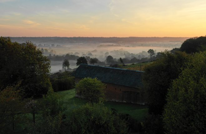 pays-auge-matin-automne-brume-lever-soleil