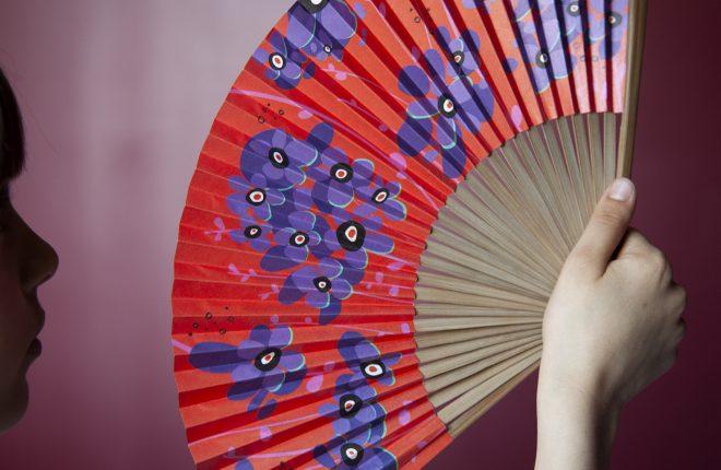 pylone-eventail-rouge-violet-bois-plastique-peinture-liedevin-
