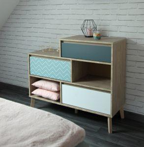chevet-chambre-scandinave-nordique-decoration-gris-bois-blanc-bleu-glacier-canard-brique-blanche
