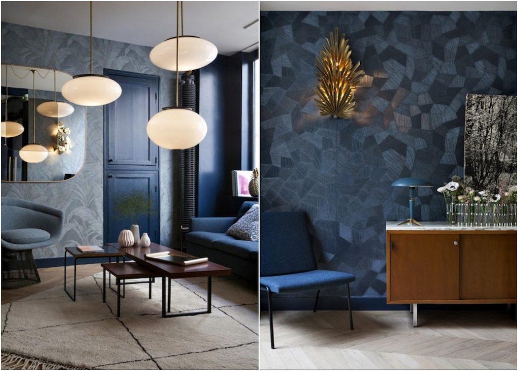 Hôtel Henriette à Paris : du bleu à foison, du sol au plafond