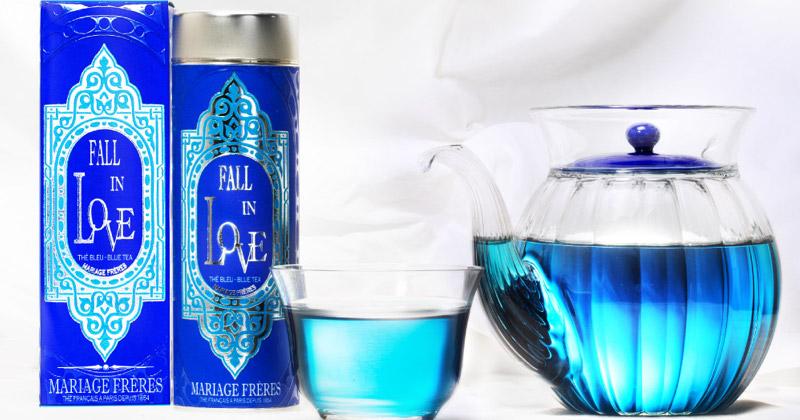 Fall In Love : un thé Mariage Frères bleu translucide aux notes épicées