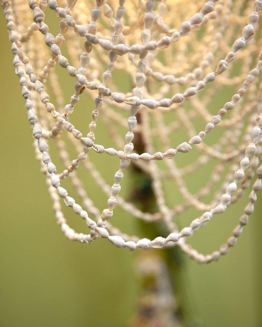 coquillage lustre suspension lumineuse blanc