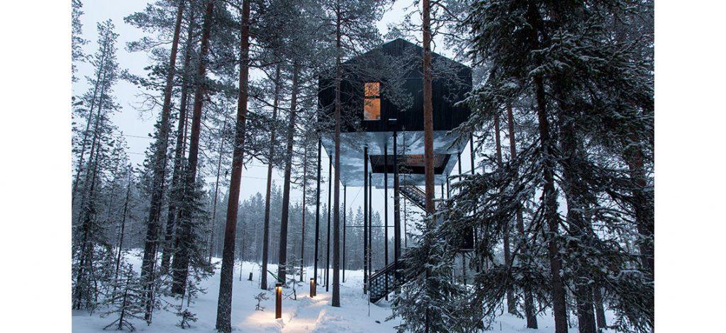 En toutes saisons, ces cabanes haut-perchées sont accessibles.