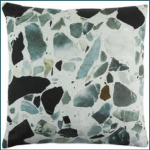 coussin-motif-terrazzo-marbre-vert-noir